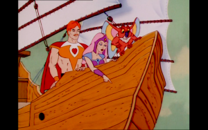 screenshot of the original She-Ra on a motherfuckin boat