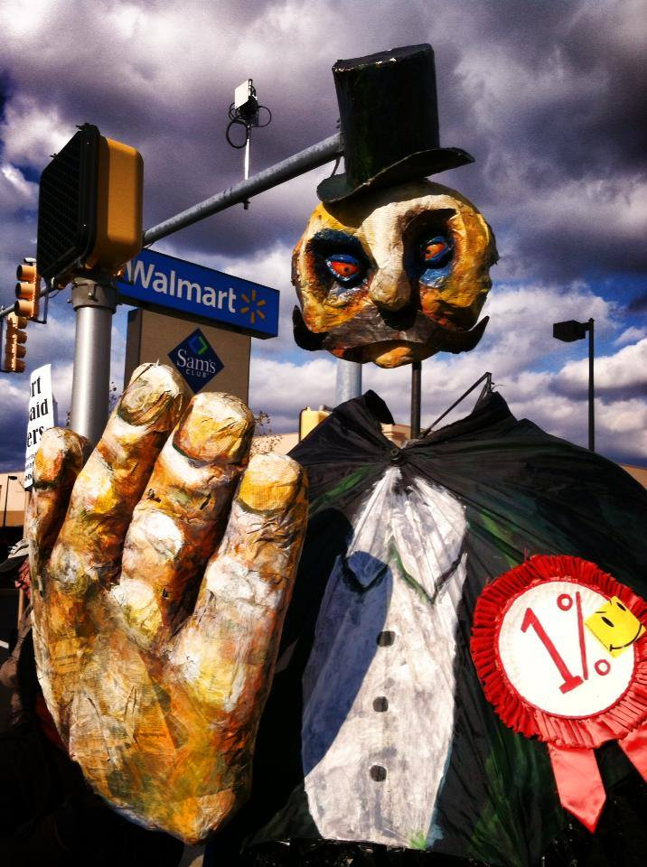 """The % at Wal-Mart"" by the OWS Puppet Guild 