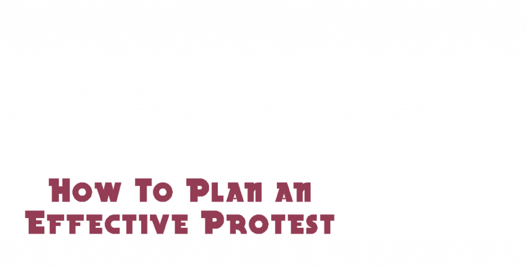 how to plan an effective protest