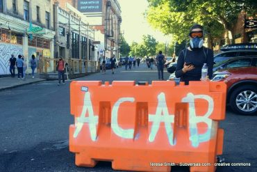 ACAB on barricade at Capital Hill Autonomous Zone