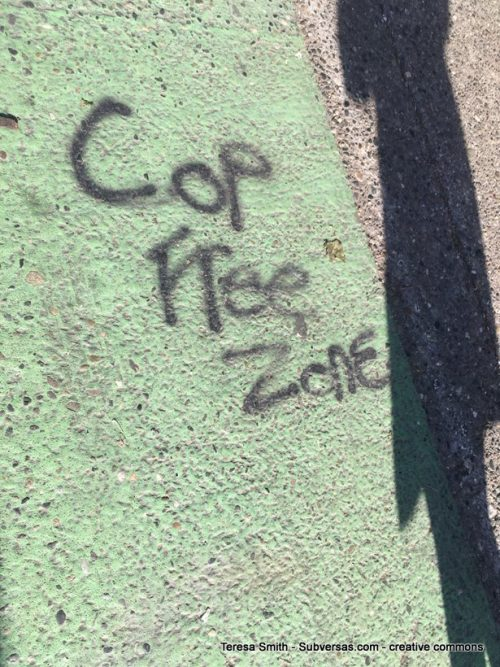 Cop free zone graffiti